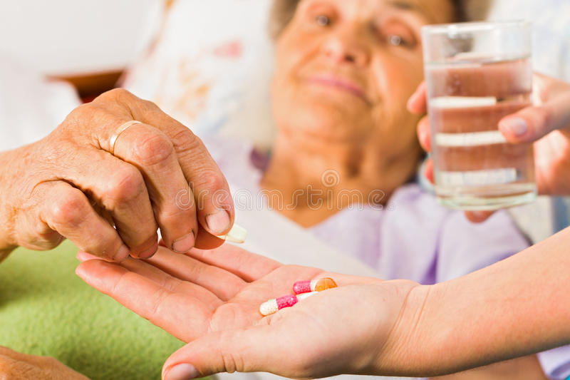 Supplements for Seniors royalty free stock photography