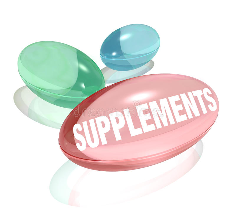 Free Supplements Vitamins For Healthy Living Wellness Stock Image - 27367341