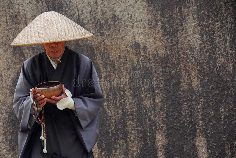 Supplica del monaco fotografia stock
