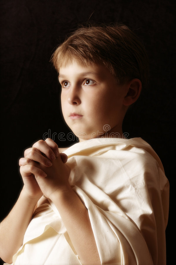 Download Supplichi fotografia stock. Immagine di angelic, bambini - 208258