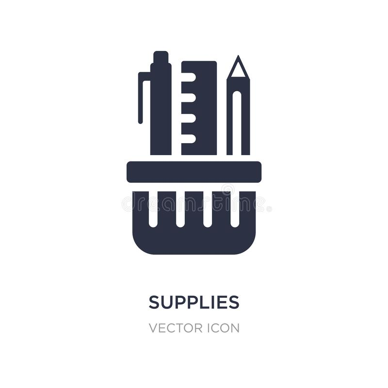 supplies icon on white background. Simple element illustration from Business and analytics concept vector illustration