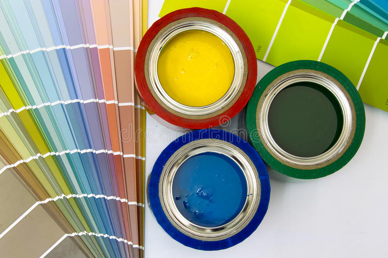 Supplies for painting stock images