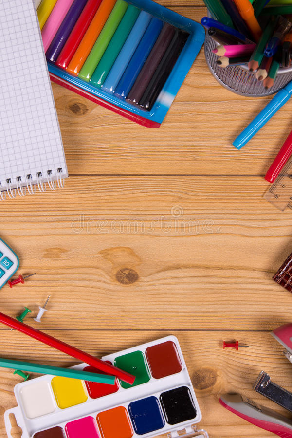 Download Supplies for school stock photo. Image of measurement - 33006780
