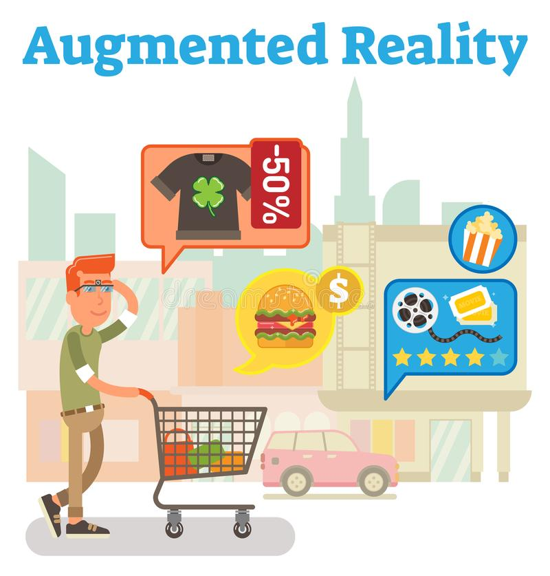 Supply chain augmented reality royalty free illustration