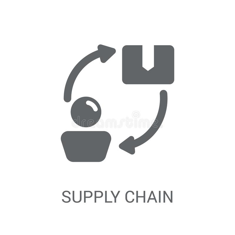 Supply chain icon. Trendy Supply chain logo concept on white background from Delivery and logistics collection royalty free illustration