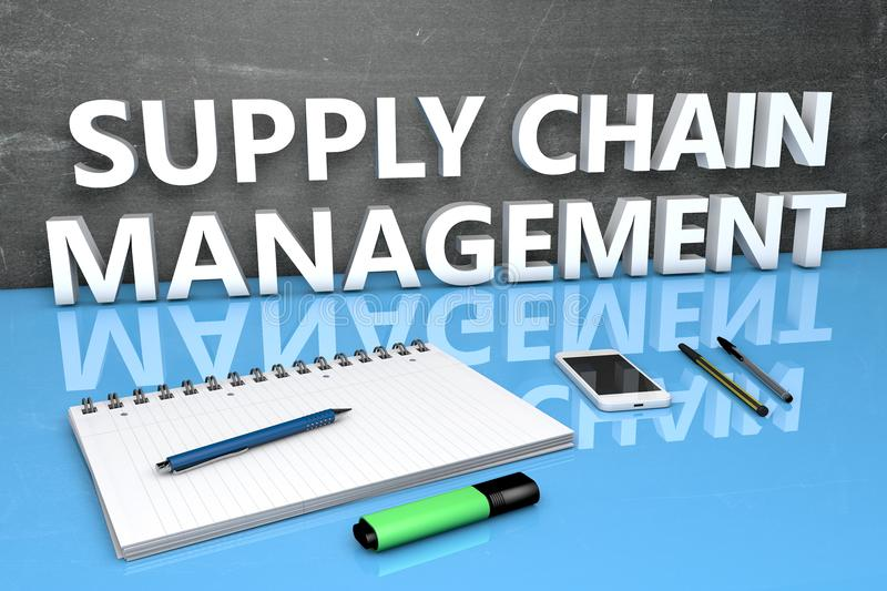 Supply chain management royalty illustrazione gratis