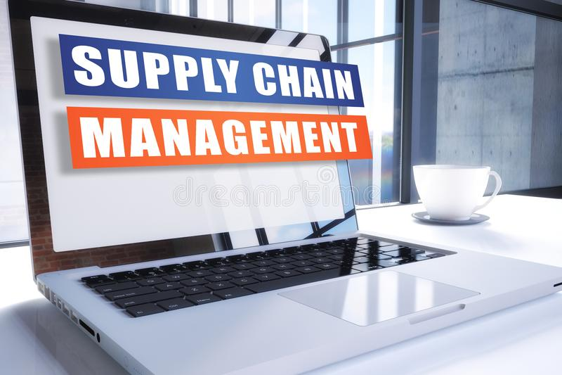 Supply chain management illustrazione di stock