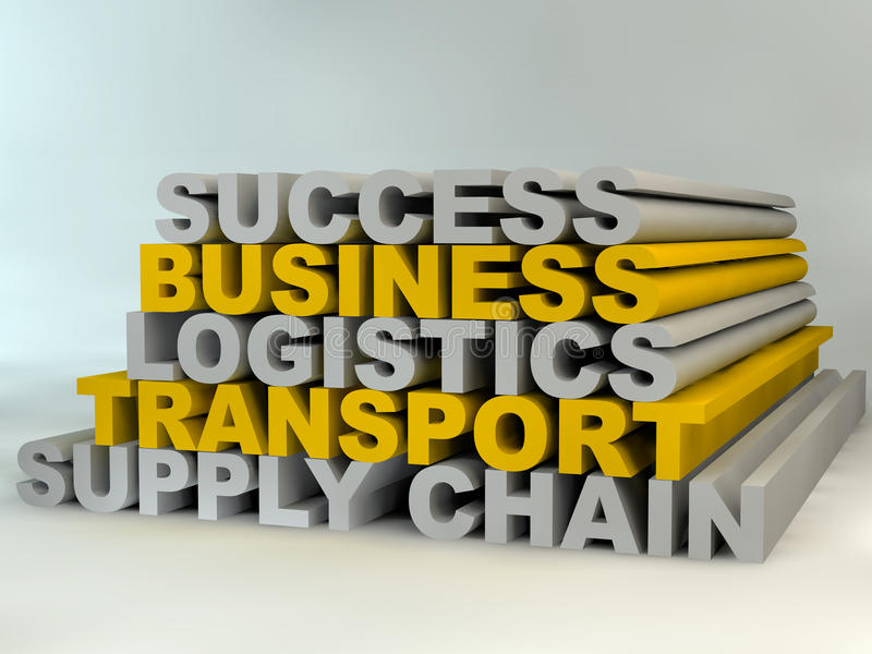 Supply Chain Management royalty free illustration