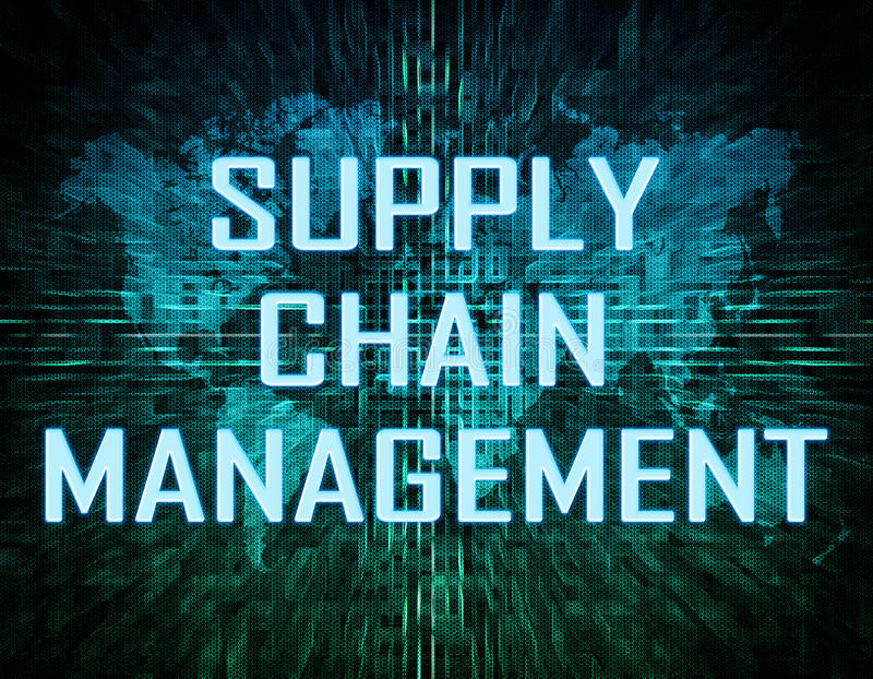 Supply chain management illustrazione vettoriale