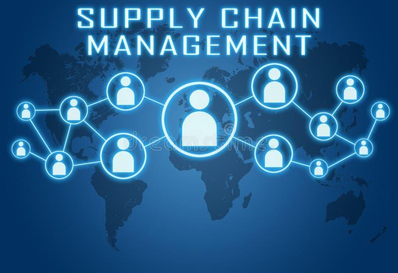 Supply chain management illustration stock