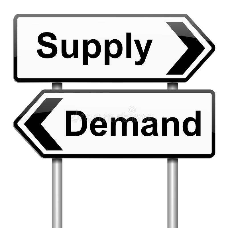 Download Supply and demand. stock illustration. Illustration of order - 26790633