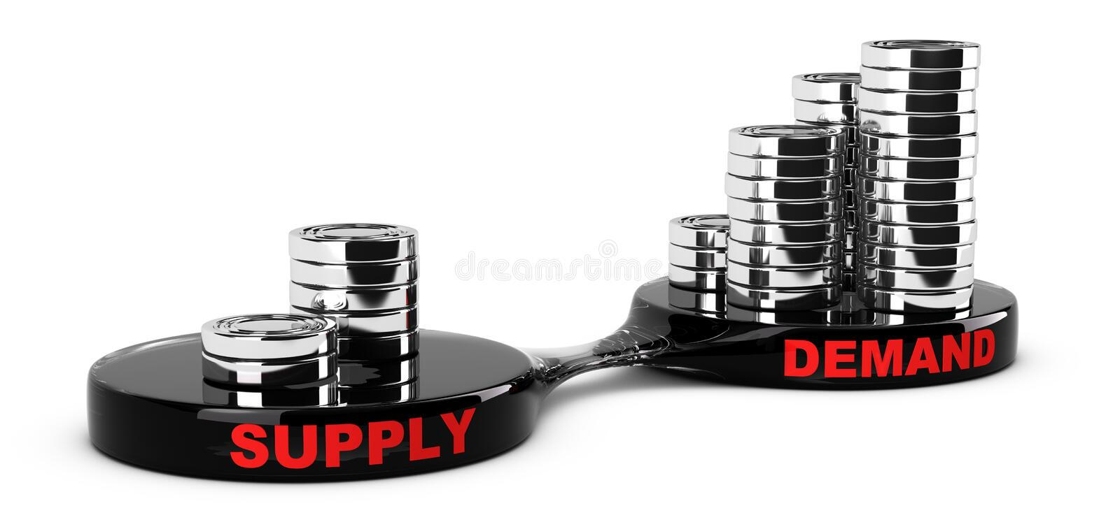 Supply and Demand vector illustration