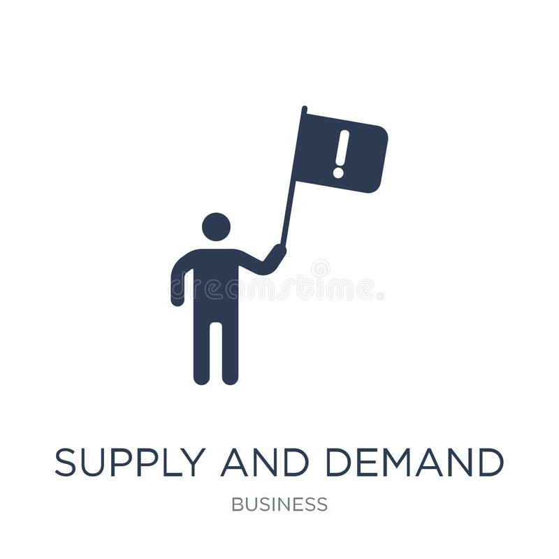 Supply and demand icon. Trendy flat vector Supply and demand icon on white background from business collection vector illustration