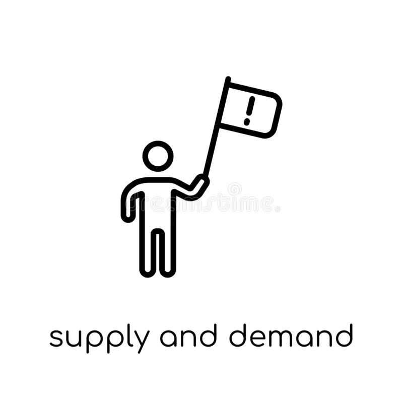 Supply and demand icon. Trendy modern flat linear vector Supply vector illustration