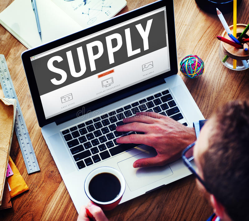 Supply Supplier Production Logistics Industry Concept.  royalty free stock image