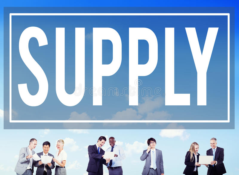 Supply Supplier Production Logistics Industry Concept royalty free stock photography