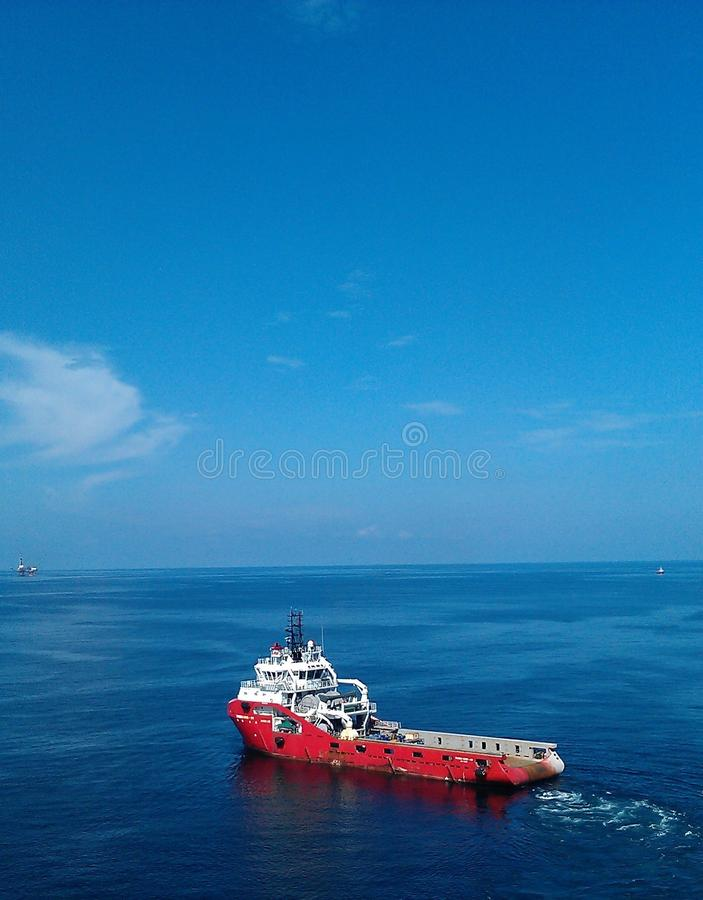 Supply Vessel offshore stock photos