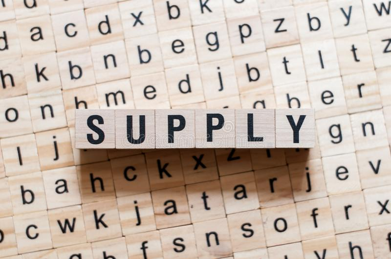 Supply word concept stock photography