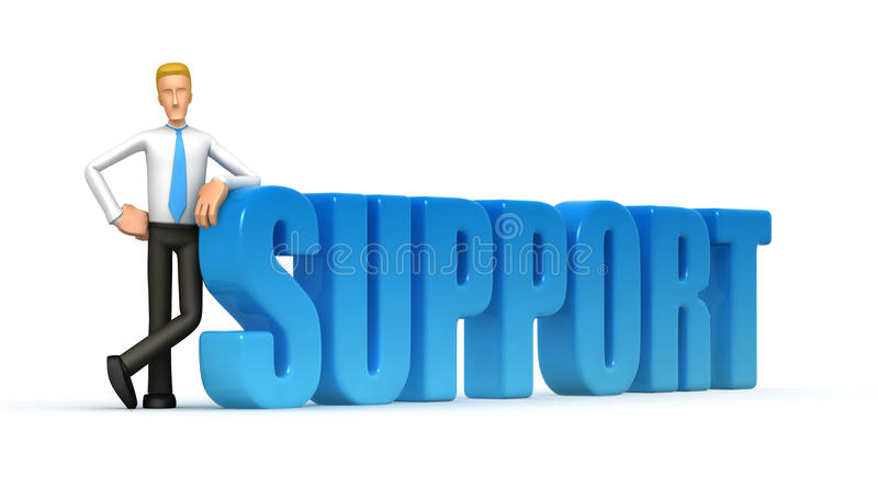 Download Support stock illustration. Illustration of humor, executive - 13491014