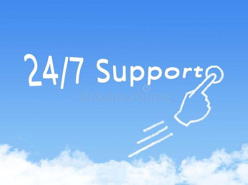 24/7 support. Close up stock illustration
