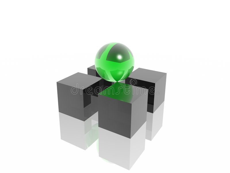 Support. (high resolutions 3D image royalty free illustration