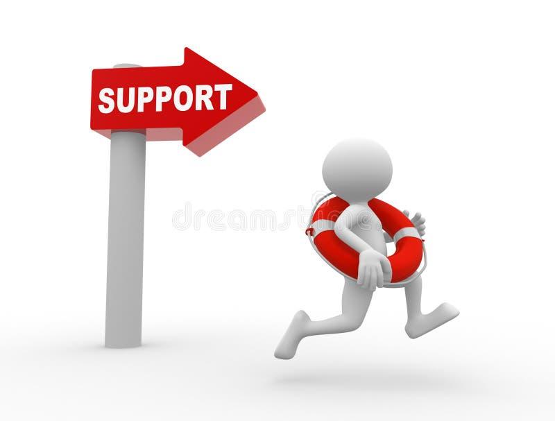 Support lizenzfreie abbildung
