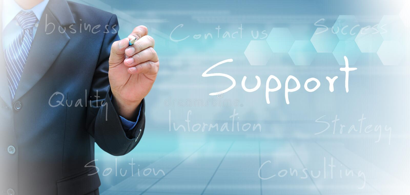 support illustration stock
