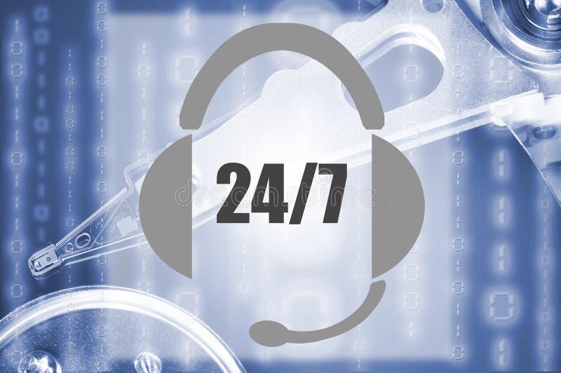 24/7 Support lizenzfreie stockbilder