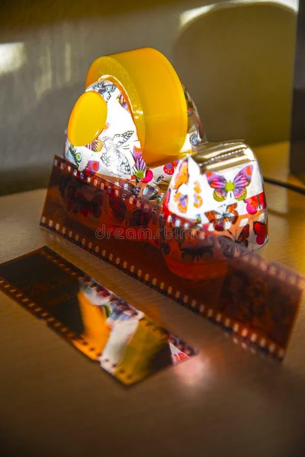 Support adhésif de petit pain avec d'autres composants photos libres de droits