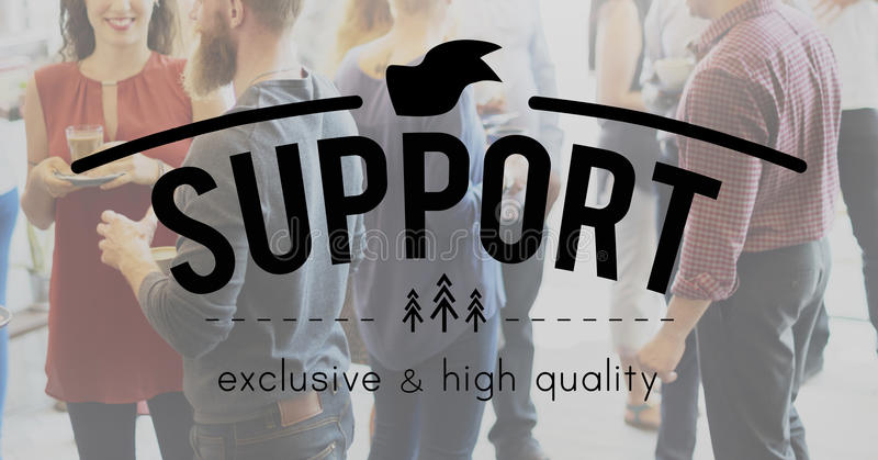 Support Advice Assistance Coaching Community Concept stock image