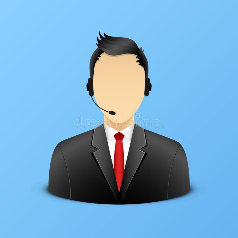 Support assistant illustration. Eps 10 vector illustration