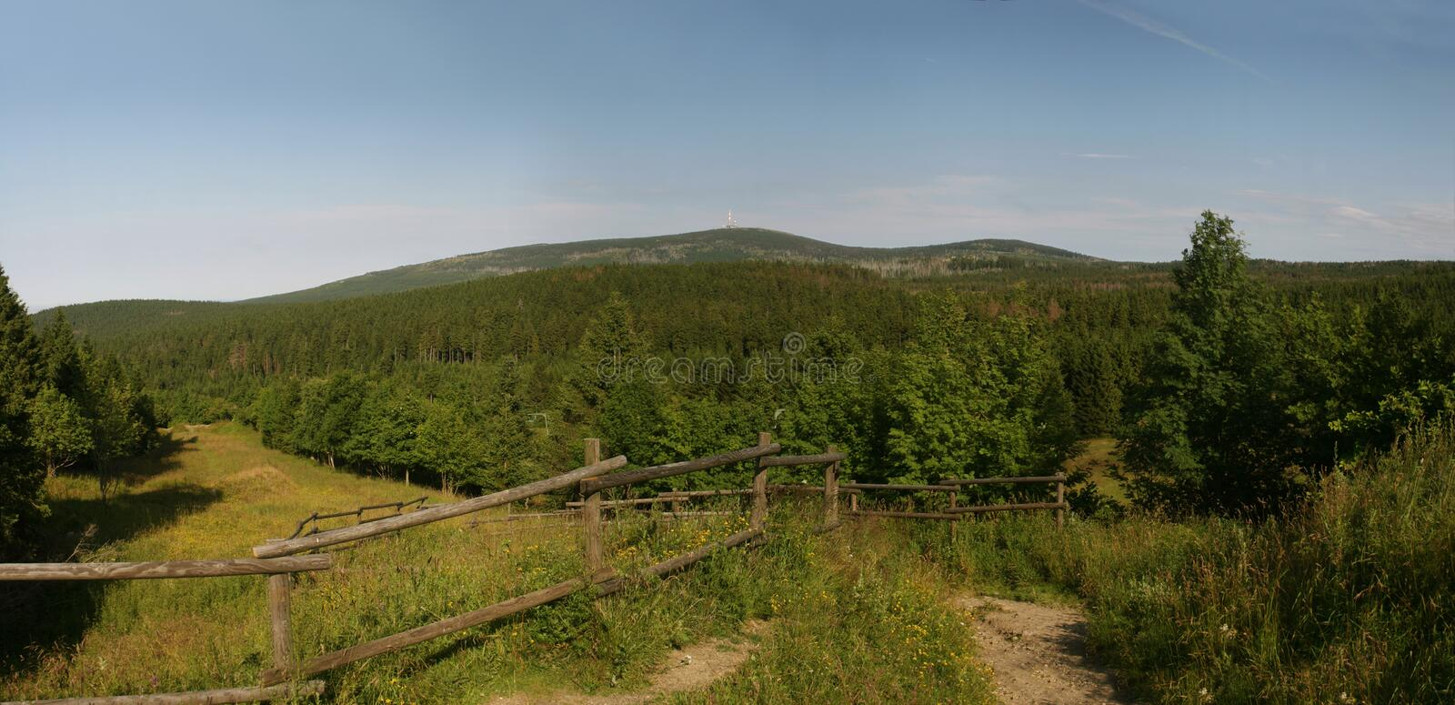 Support Brocken (Harz) en Allemagne image stock