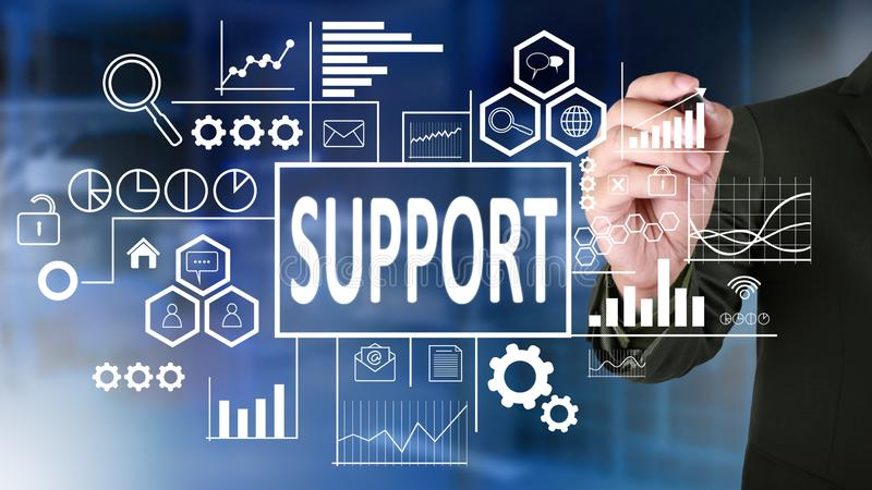 Support in Business Concept royalty free stock photo