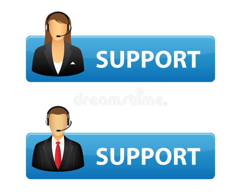 Support buttons vector illustration