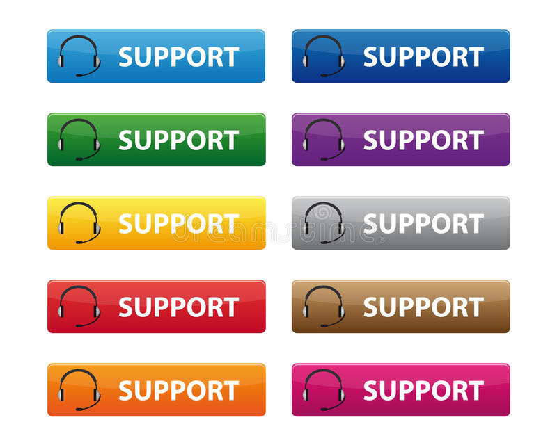 Download Support buttons stock vector. Image of company, assistance - 20365923