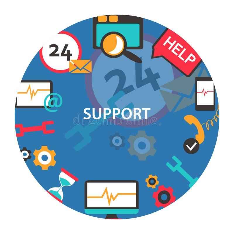 Support Center-Emblem lizenzfreie abbildung