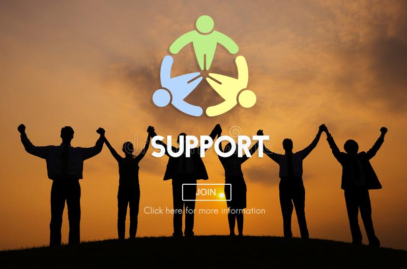 Support Team Collaboration Assistance Help Motivation Concept royalty free stock photos