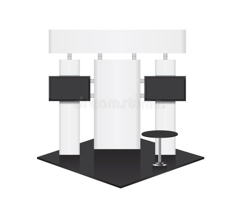 Support commercial d'exposition de conférence illustration stock