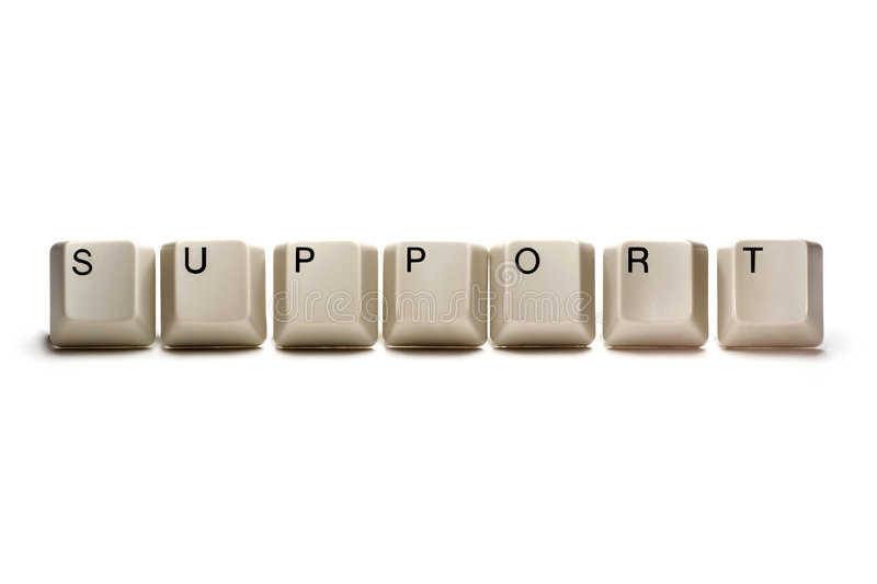Support - Computer Keys Royalty Free Stock Photo