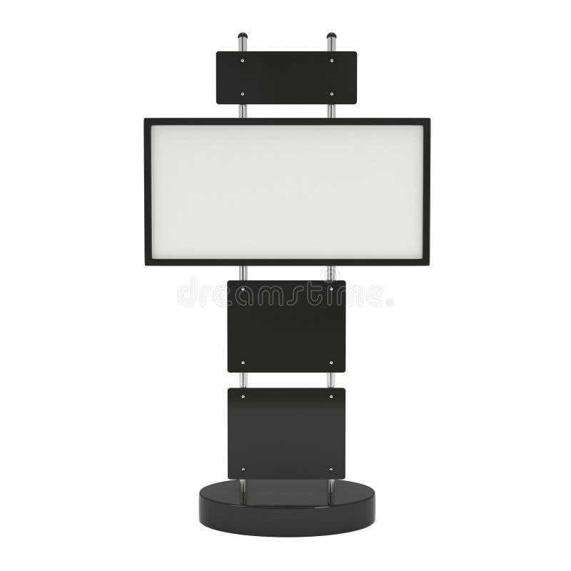 Support d'écran d'affichage à cristaux liquides de cabine de salon commercial illustration stock