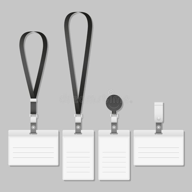 Support d'étiquette de nom de lanière d'insigne illustration de vecteur
