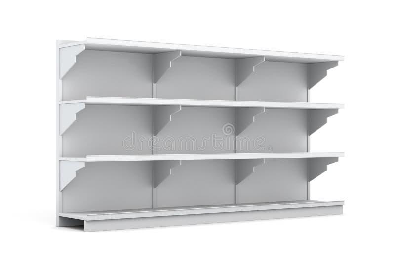 Support d'affichage avec des étagères pour le supermarché sur le dos de blanc illustration libre de droits