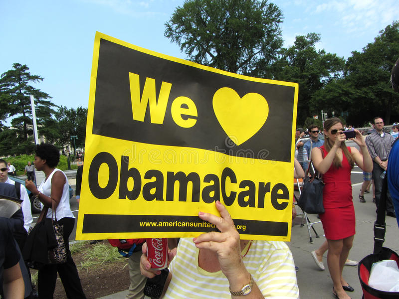 Support d'Obamacare photographie stock