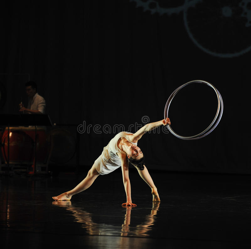 Support-Dance musical. In May 22nd, the French original dance musical red line at the Jiangxi Art Center held. Chinese youth dance actor Liu Yan as the drama stock image