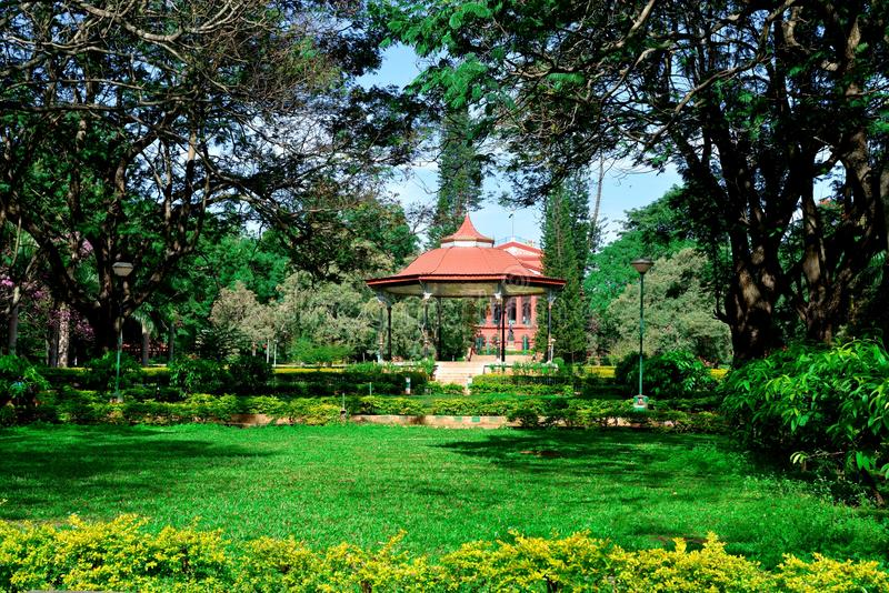 Support de bande au parc de Cubbon, Bengaluru (Bangalore) photo stock