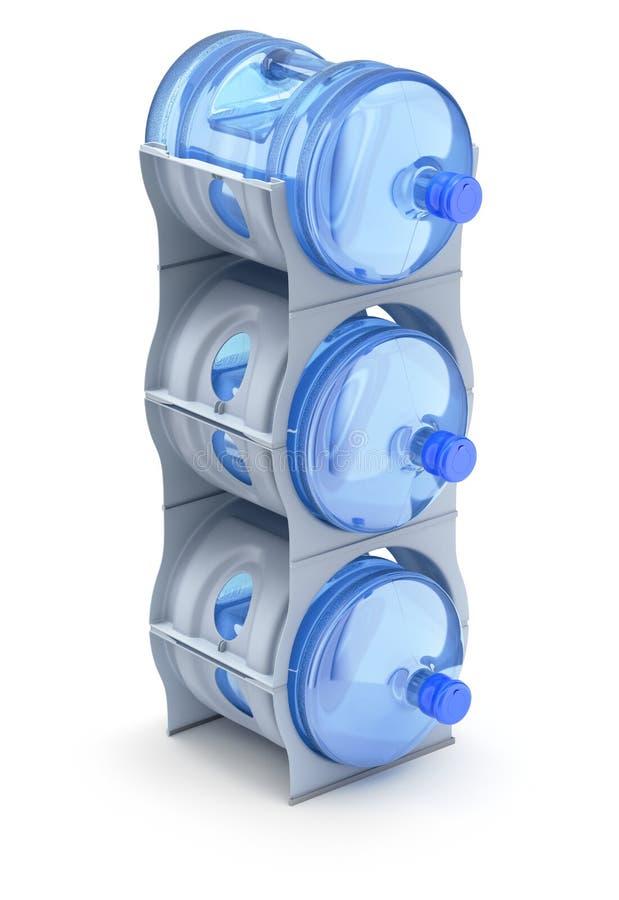 Support de bouteille de refroidisseur d'eau illustration de vecteur