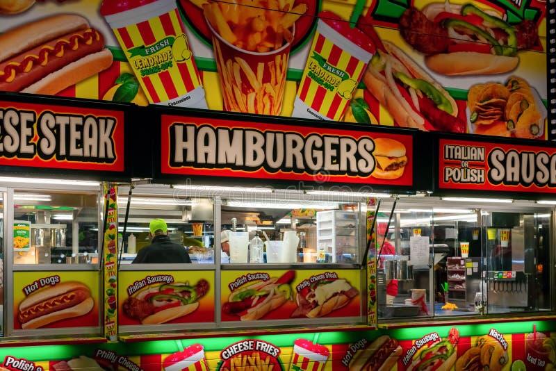Support de concession de nourriture de carnaval image libre de droits