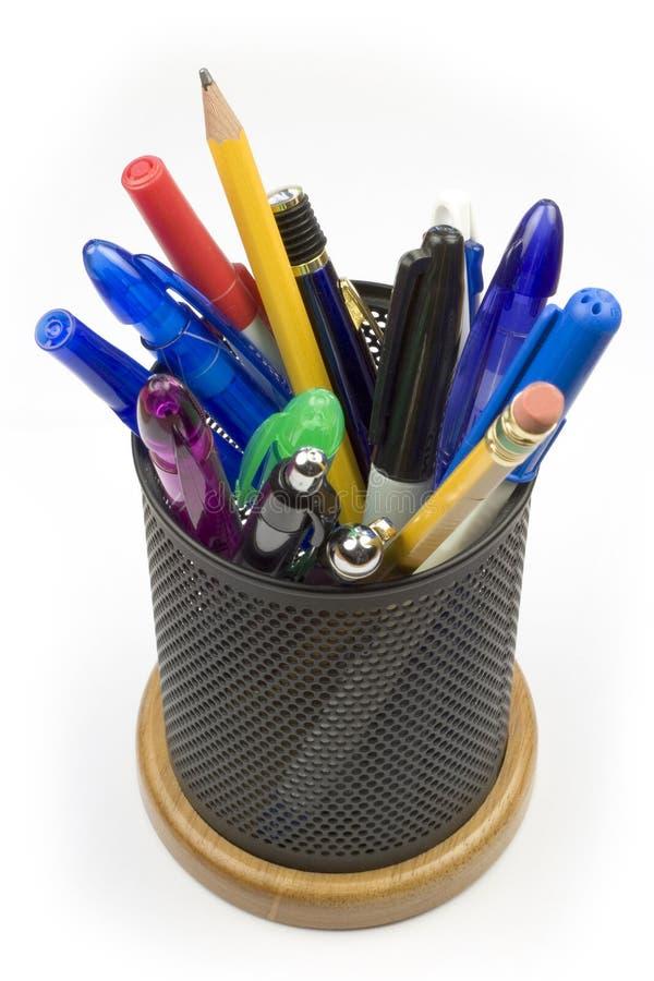 Support de crayon lecteur photographie stock