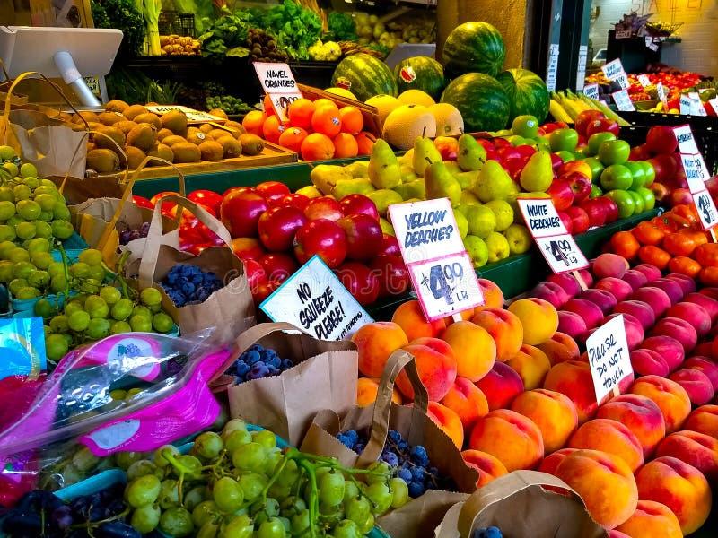 Support de fruit à Seattle Washington photographie stock