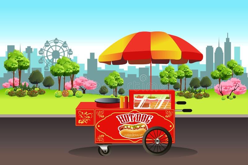 Support de hot-dog illustration stock